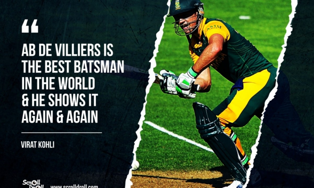 2010-2019 Wisden Cricketers of the Decade  - AB DE VILLIERS (SAF)