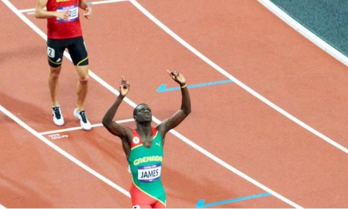 400m athletics Olympic and World Champion Kirani James - Grenada