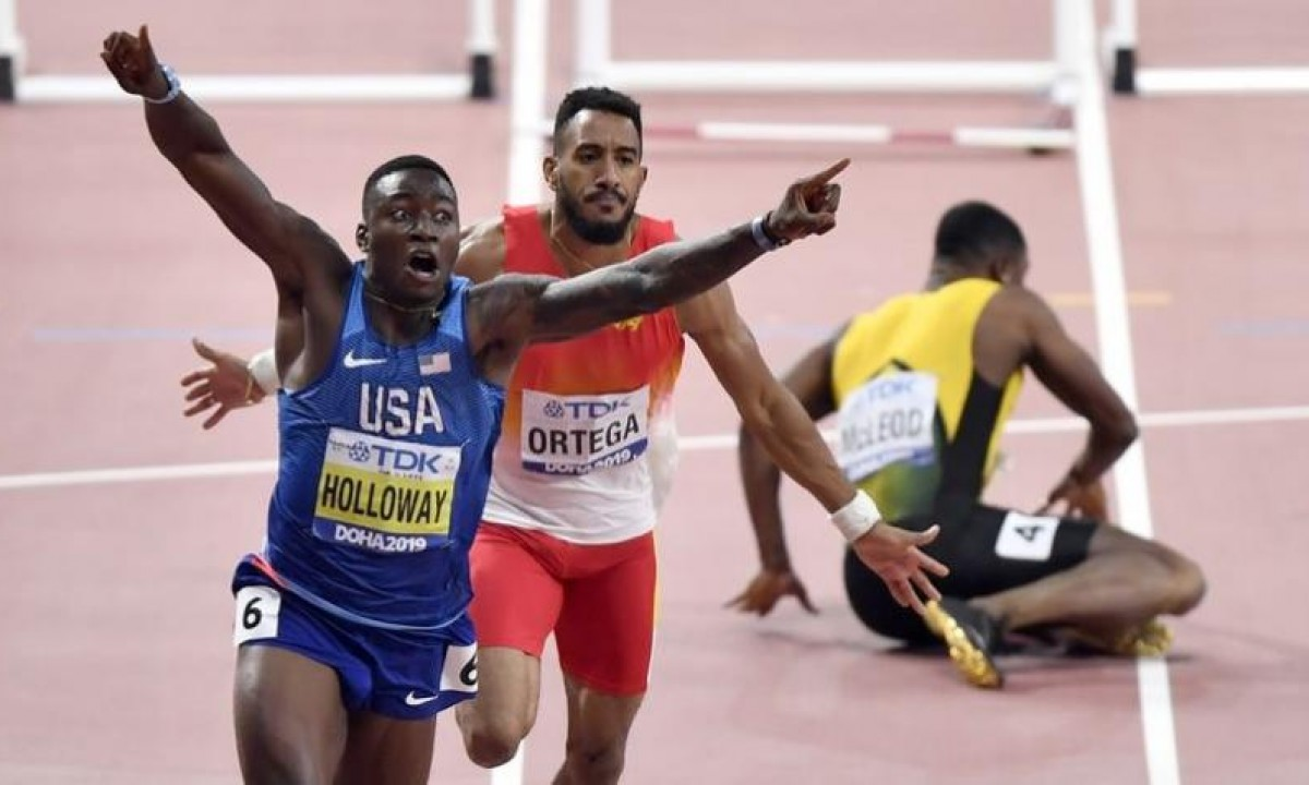 WORLD CHAMPION DOHA 2019 - 110m HURDLES - GRANT HOLLOWAY - USA